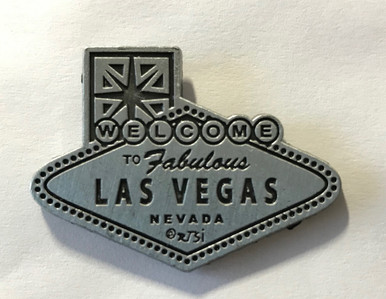 Las Vegas Welcome Sign Pewter Pin