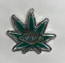 Las Vegas Welcome Sign Green Marijuana Pot Leaf Pin