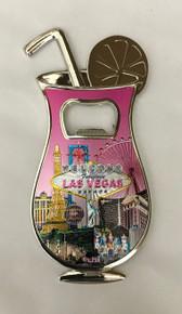 Welcome To Las Vegas Pink Hurricane Drink Bottle Opener