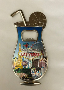 Welcome To Las Vegas Sign Casino Magnetic Bottle Opener Blue Hurricane Cocktail