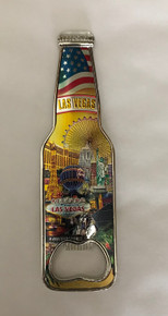 Welcome To Las Vegas Sign Casino Magnetic Opener Gold Beer Bottle