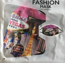 Las Vegas Strip Scene Washable Pink Face Mask