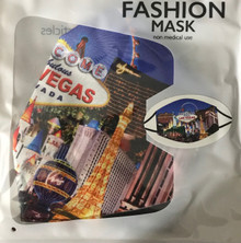 Las Vegas Strip Scene Washable Cloth Blue Face Mask