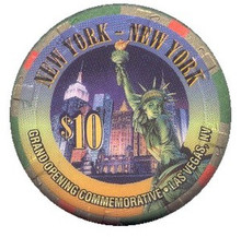 New York Las Vegas $10 Grand Opening Casino Chip