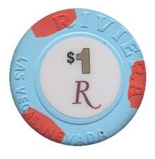 Riviera Las Vegas $1 Casino Chip