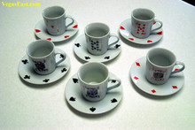 Poker Playing Cards Casino Espresso Set J03728