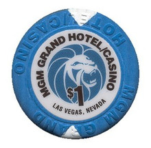 MGM Grand Las Vegas $1 Casino Chip