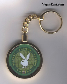 Playboy Casino Chip Key Ring