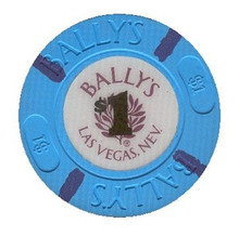 Bally's Las Vegas $1 Casino Chip J0852CC