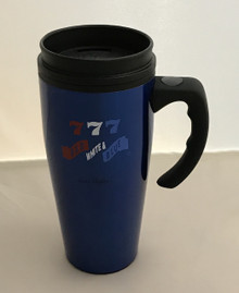 Red White & Blue Slot Machine Travel Coffee Mug