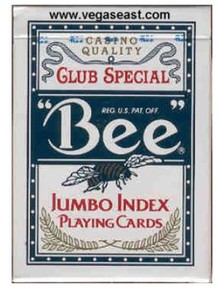 Bee Jumbo Playing Cards Blue Deck