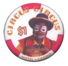 Circus Circus Las Vegas $1 Casino Chip