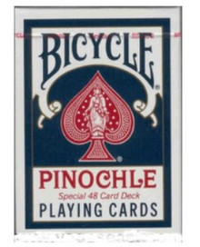Bicycle Pinochle Playing Cards Blue Deck