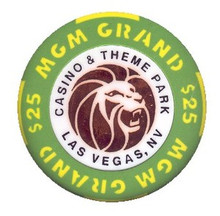 MGM Grand & Theme Park Las Vegas $25 Casino Chip