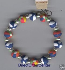 Kaolin Clay Beads & Silver Ball Bracelet