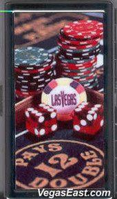 Las Vegas Chips Dice Cigarette Card Case
