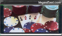 4 Aces Poker Casino Chip Cigarette Case