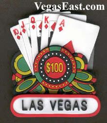 Las Vegas Royal Flush 3-D Magnet