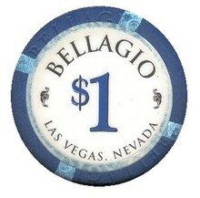 Bellagio Las Vegas $1 Casino Chip