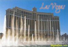 Bellagio Fountain Las Vegas Casino Postcard