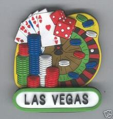 Las Vegas Gaming Roulette Magnet