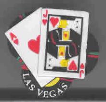 Las Vegas Heart Black Jack 3-D Magnet