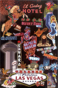 Las Vegas Over The Years Souvenir Postcard
