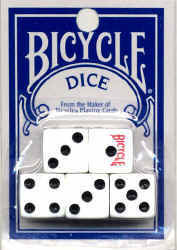 Bicycle White Dice Set of 5