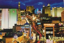 Las Vegas Strip Mirage Casino Postcard