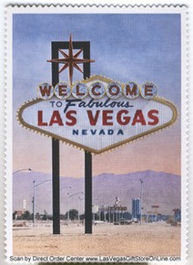 Vintage Welcome To Las Vegas Sign Postcard