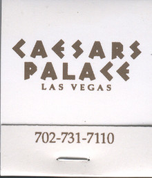 Caesars Palace Las Vegas Match Book J0954MB
