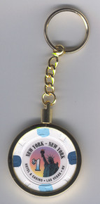 New York Las Vegas Casino Chip Key Ring