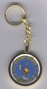 Venetian $1 Casino Chip Key Ring