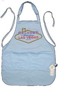Las Vegas Sign Light Blue FeatherLite Apron