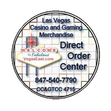 Direct Order Center VegasEast.com Advertising Casino Chip