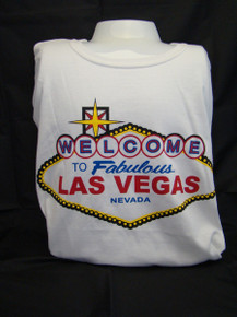 Welcome To Las Vegas Sign Softstyle Ringspun White T Shirt