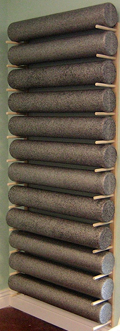 Foam Roller Yoga Mat Storage Rack Holds 4 8 12 Etc Modular Sold By The Pairs And No Of Pairs You Get Determines No Of Mats Rollers You Hold Easy Wall Mount