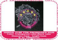 Shrink Tube for pre bonded human hair extensions-Black