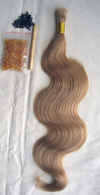 "24"" 100% Brazilian Remy Human Hair Extensions Euro Wave- 16#"