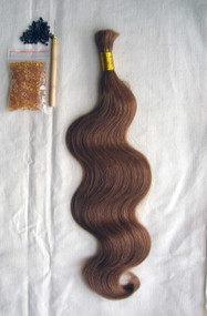 "24"" 100% Brazilian Remy Human Hair Extensions Euro Wave- 12#"