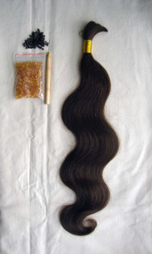 "24"" 100% Brazilian Remy Human Hair Extensions Euro Wave- 4#"