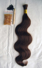 "24"" 100% Brazilian Remy Human Hair Extensions Euro Wave- 6#"