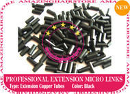 PreBonded Hair Extensions Micro Ring Copper Tube-Black