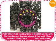 1000 PreBond Human Hair Extension Micro Ring Link-D.Brown