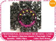 1000 PreBond Human Hair Extension Micro Ring Link-D.Brown