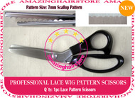 7mm Scallop Pattern Lace Scissors to Making Front Lace Wigs