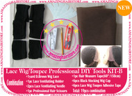 Hair Wigs Lace/Mono+Ventilating Needle 19pc DIY B toolset