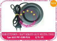Prebond Human Hair Extensions Keratin Melt Big Glue Pot -Euro plug