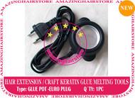 Prebond Human Hair Extensions Keratin Melt Glue Pot -Euro plug