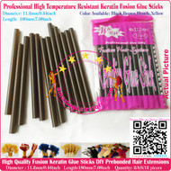 12pcs High Quality Heat Resistant Large Keratin Fusion Glue Stick to making Fusion Hair Extensions Arts Crafts -Brown